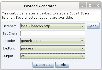 Use Cobalt Strike's Beacon with Veil's Evasion | Strategic