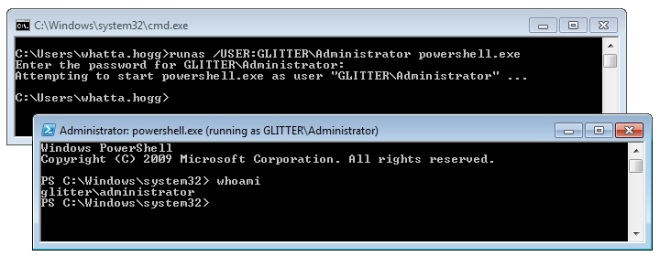 windows 7 run as administrator not prompting for credentials